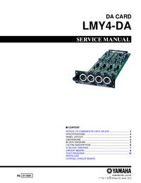 Manuale di servizio Yamaha LMY4-DA