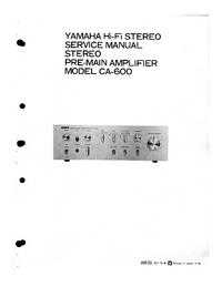 Servicehandboek Yamaha CA-600