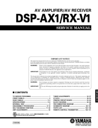 Manuale di servizio Yamaha DSP-AX1