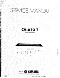 Service Manual Yamaha CA-610II