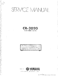 Service Manual Yamaha CR-2020