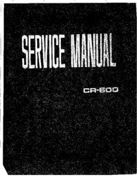 Руководство по техническому обслуживанию Yamaha CR-600