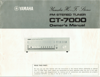 Service Manual Yamaha CT-7000