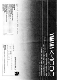 Manual del usuario Yamaha K-1000