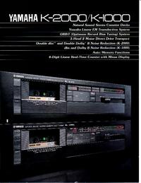 Datenblatt Yamaha K-2000