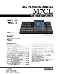 Manual de serviço Yamaha M7CL