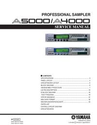Manuale di servizio Yamaha A5000