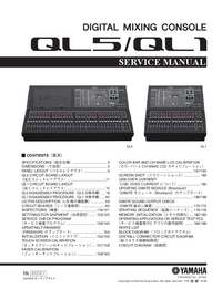 manuel de réparation Yamaha QL5