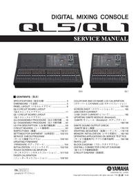 Manual de servicio Yamaha QL5