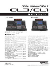 Manual de servicio Yamaha CL3