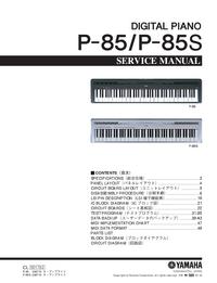 Manual de servicio Yamaha P-85S
