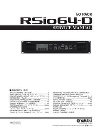 Servicehandboek Yamaha RSio64-D