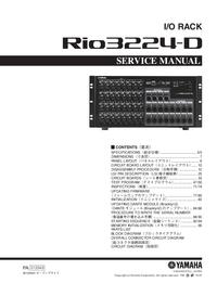 Serviceanleitung Yamaha Rio3224-D