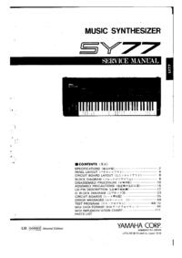 Manual de serviço Yamaha SY-77