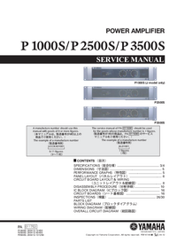 Service Manual Yamaha P1000S