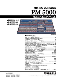 Manual de servicio Yamaha PM5000-52C
