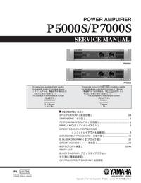 Manuale di servizio Yamaha P5000S