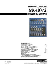 Manual de serviço Yamaha MG10/2