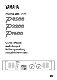 User Manual Yamaha P3200