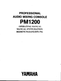 Service and User Manual Yamaha PM1200
