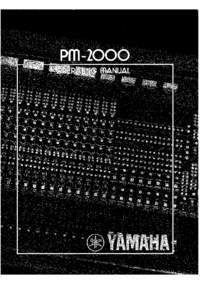 Manual del usuario Yamaha PM-2000