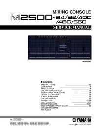 Service Manual Yamaha M2500-56C