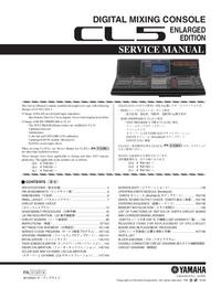 Instrukcja serwisowa Yamaha CL5