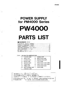Lista de parte Yamaha PW4000