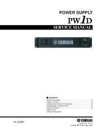 Manual de servicio Yamaha PW1D