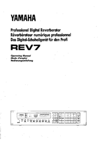 User Manual Yamaha REV7