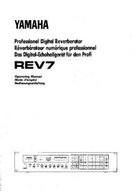 Instrukcja obsługi Yamaha REV7