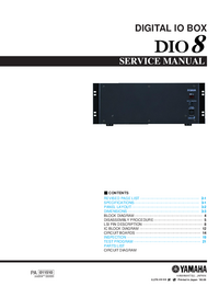 Service Manual Yamaha DIO8