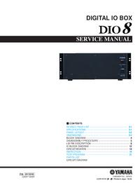 Instrukcja serwisowa Yamaha DIO8
