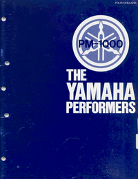 Service and User Manual Yamaha PM-1000