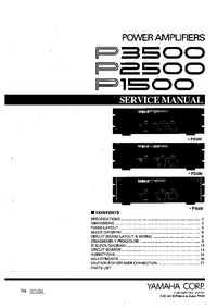 Service Manual Yamaha P1500