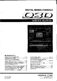 Manual de servicio Yamaha 03D