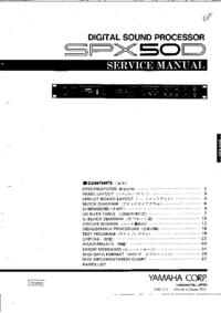 Service Manual Yamaha SPX50D