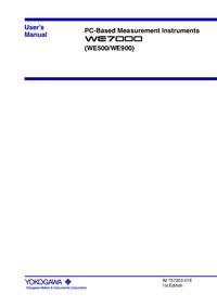 User Manual Yokogawa WE900