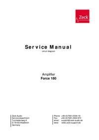 Schaltplan Zeck Force 180