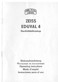 User Manual Zeiss Eduval 4