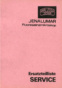 Part List Zeiss Jenalumar