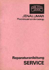Manual de serviço Zeiss Jenalumar