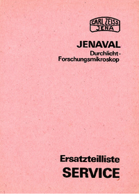 Part List Zeiss Jenaval