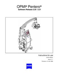 Instrukcja obsługi Zeiss OPMI ® Pentero®