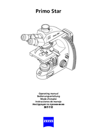 User Manual Zeiss Primo Star