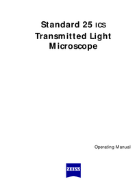 Manuale d'uso Zeiss Standard 25 ICS