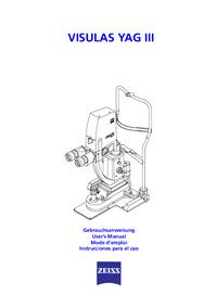 Manuale d'uso Zeiss VISULAS YAG III