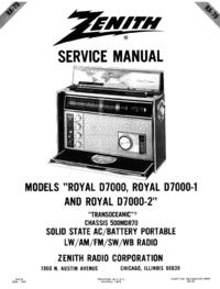 Service Manual Zenith 500MDR70