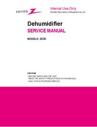 Service Manual Zenith ZD30