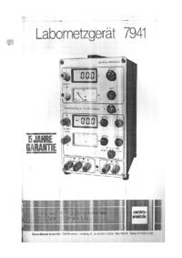 Service- und Bedienungsanleitung Zentro 7941